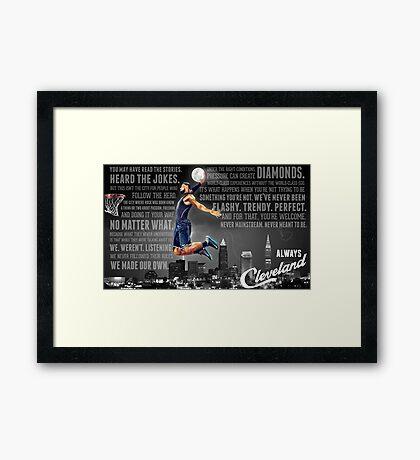 Lebron James Poster Framed Print