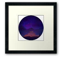 Calm (Transparent) Framed Print