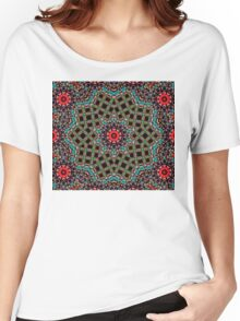 Red Circle Motif Women's Relaxed Fit T-Shirt