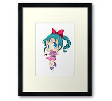 chibi cute Framed Print