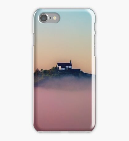 Wurmlinger Chapel rising from Early-Autumn Morning Mist iPhone Case/Skin