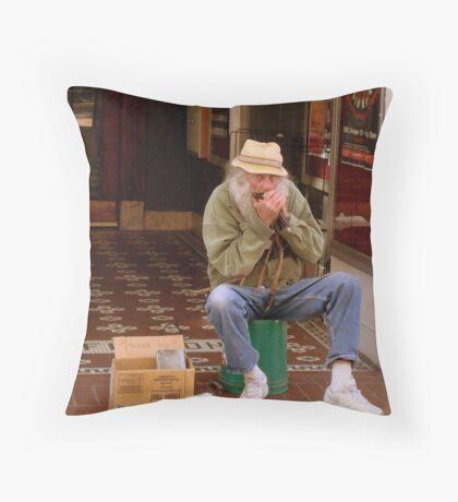BLOWING A TUNE - SMALLTOWN USA series   ^ Throw Pillow