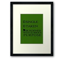 Single Taken..LOKI Framed Print
