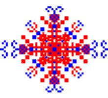 Cross-stitch embroidered folk   border Sticker