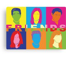 Friends Pop Art Canvas Print