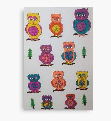 Unique Owls Canvas Print