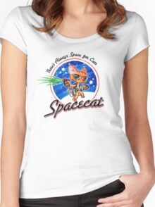 Spacecat Women's Fitted Scoop T-Shirt