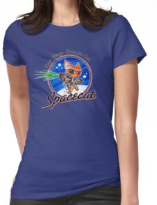 Spacecat Womens Fitted T-Shirt