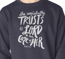 Psalm 112: 7 x Navy Pullover