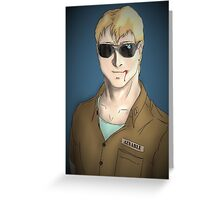 Char Aznable- The Defiant Trainee Greeting Card