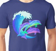 Psychedelic Dolphins Unisex T-Shirt