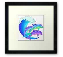 Psychedelic Dolphins Framed Print