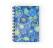 Abstract background in Van Gogh style  Spiral Notebook