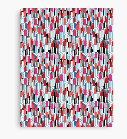 Cool pattern graphic lipstick Canvas Print