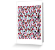 Cool pattern graphic lipstick Greeting Card