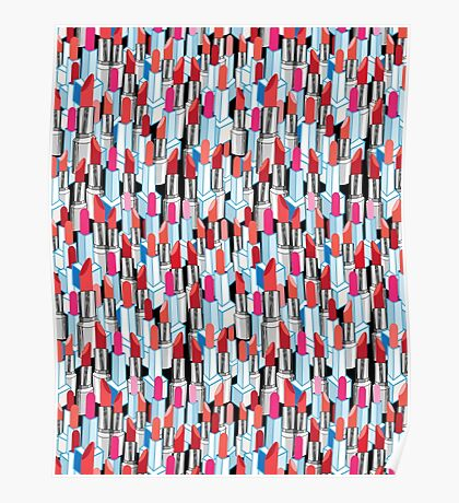 Cool pattern graphic lipstick Poster