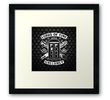 Tardis Lords Of Time Framed Print