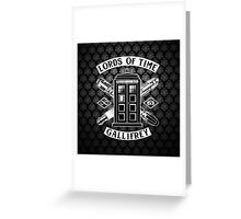 Tardis Lords Of Time Greeting Card