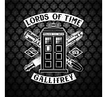 Tardis Lords Of Time Photographic Print