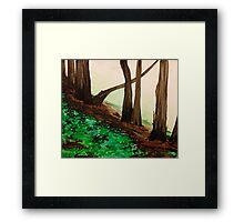 Castro Valley Trees at Lake Chabot Framed Print