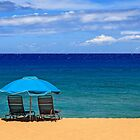 Two Chairs And An Umbrella by James Eddy