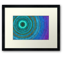 Retro concentric background  Framed Print