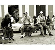 12noon  ?...time for a shave then - Quito, Ecuador, august 2014 Photographic Print