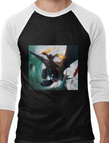 Toothless fighting Men's Baseball ¾ T-Shirt