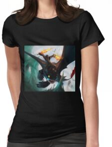Toothless fighting Womens Fitted T-Shirt