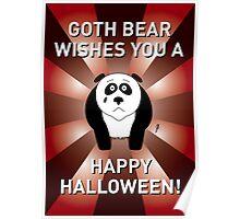 Panda Halloween Card 1 Poster