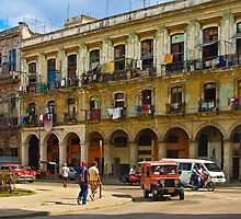 Street Scene in Havana by Yukondick