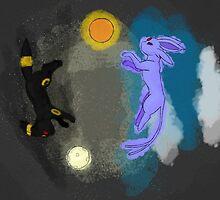 Umbreon and Espeon by TinyTardis