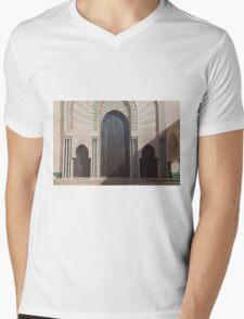 Hassan II mosque, Casablanca Mens V-Neck T-Shirt
