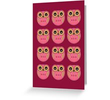 Pink Owls Card Greeting Card