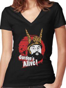 Gordon's Alive! Women's Fitted V-Neck T-Shirt