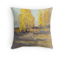 """Autumn Abandon"" Original Landscape Painting Throw Pillow"