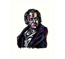 Colorful William Blake Portrait Art Print