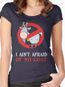 Cubs Goat Funny Shirt - I Ain't Afraid of No Goat  Women's Fitted Scoop T-Shirt