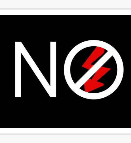 NO FLASH! Black background Sticker