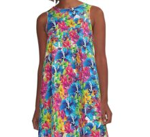 Flowers, flowers everywhere A-Line Dress