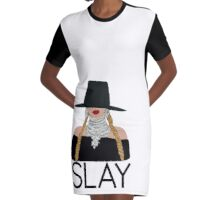 Slay - Queen Bee Beyonce  Graphic T-Shirt Dress