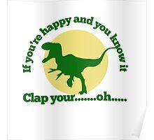 Funny trex Poster