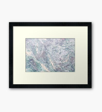 BLUE MARBLE PRINT - Marble Framed Print