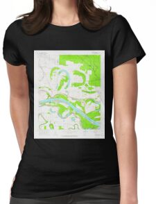 USGS TOPO Map Arkansas AR Cornerstone 258242 1964 24000 Womens Fitted T-Shirt