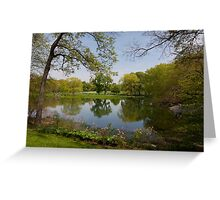 Spring in Central park, New York Greeting Card