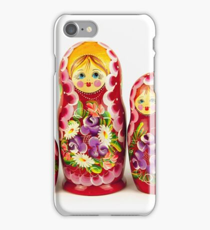 A group of Russian dolls iPhone Case/Skin