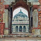 Entry to Isa Khan walled tomb complex - Delhi - India by TonyCrehan