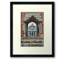 Entry to Isa Khan walled tomb complex - Delhi - India Framed Print