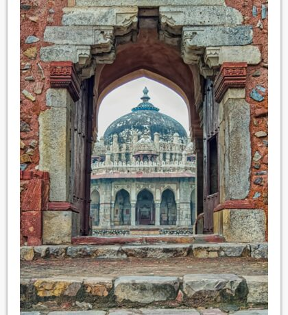 Entry to Isa Khan walled tomb complex - Delhi - India Sticker