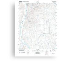 USGS TOPO Map Arkansas AR Bethesda 20110728 TM Canvas Print